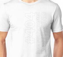 404 outline Unisex T-Shirt