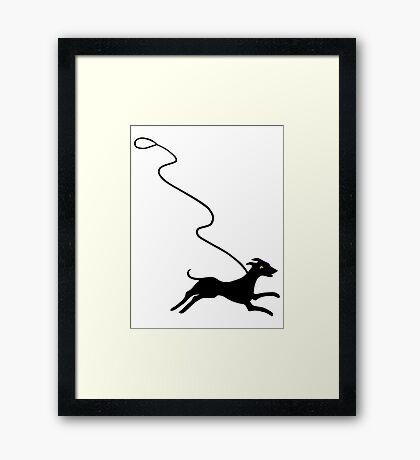 Off Leash Framed Print