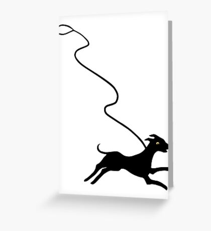Off Leash Greeting Card