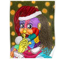 Shh!  Santa Scraps is Sneaking by Kevenn T. Smith Poster