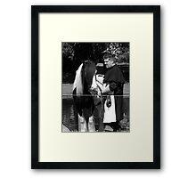 Horse and groom Framed Print
