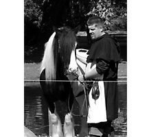 Horse and groom Photographic Print