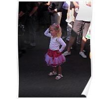 Dedicated little girl! Poster