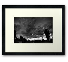 Storm over Perth Framed Print