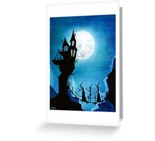 Witch Sisters Journey Home Greeting Card