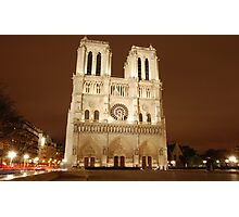 Notre Dame at Night Photographic Print
