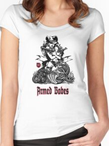 Armed BABES Women's Fitted Scoop T-Shirt