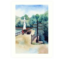 Scott Memorial, Roath Park, Cardiff Art Print