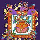 Aztec Alley Cat by redqueenself
