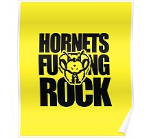 Hornets Fucking Rock Poster