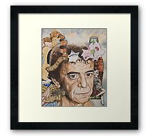 Between thought and expression Framed Print