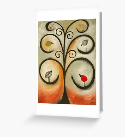 Many different birds can live in the one tree Greeting Card