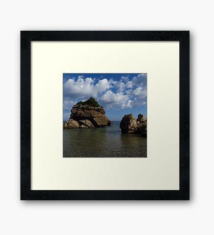 Rock Formation, Porto Zorro Framed Print