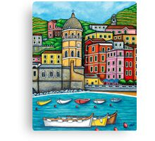 Colours of Vernazza, Cinque Terre Canvas Print