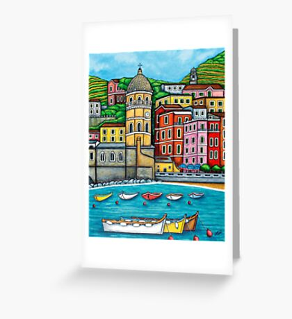 Colours of Vernazza, Cinque Terre Greeting Card
