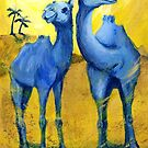 TBC1 (Two Blue Camels) by Genevieve  Cseh