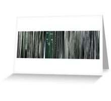 Moviebarcode: The Animatrix 8: A Detective Story (2003) Greeting Card