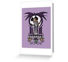 Nightmare Nouveau Greeting Card