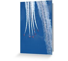 The Red Arrows descend and split out Greeting Card