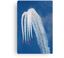 The Red Arrows downwards formation Canvas Print