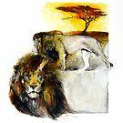 Africa - Lion Veldt by Pieter  Zaadstra