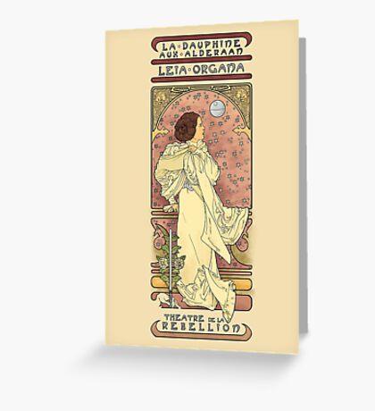 Leia Nouveau Greeting Card