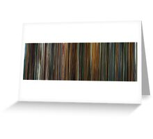 Moviebarcode: Ocean's Eleven (2001) Greeting Card
