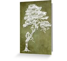 The Bodhi Tree of Awareness (White Version) Greeting Card