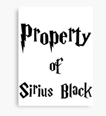 Property of Sirius Black Canvas Print