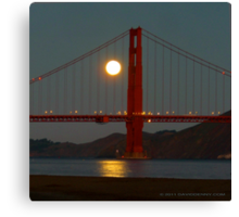 Full Moon and the Golden Gate Bridge Canvas Print