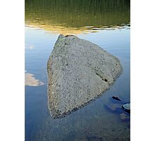 Boulder at Echo Lake Photographic Print