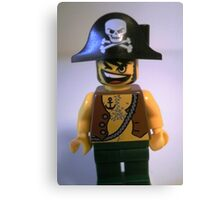 Pirate Captain Minifigure with Flame Torch Canvas Print