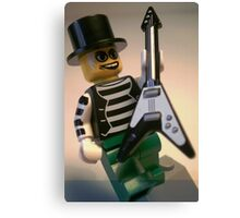 Emo, Goth, Punk, Band Guitarist Custom Minifigure Canvas Print