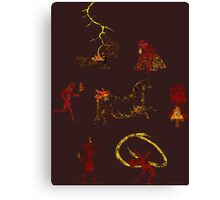Pyroglyphics Canvas Print