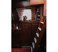 Interior of a peat barge Photographic Print