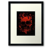 Blood And Skull Framed Print