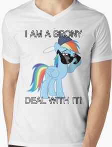 Rainbow Dash Brony Mens V-Neck T-Shirt