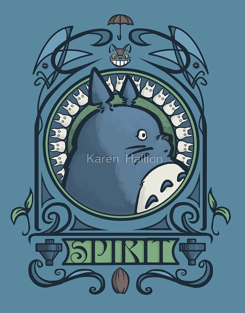 Forest Spirit Nouveau by Karen  Hallion
