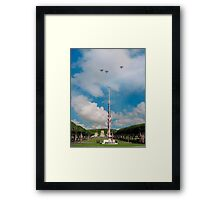 Memorial Day jet fly-over Framed Print