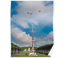 Memorial Day jet fly-over Poster