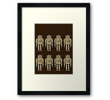 Vintage Robot Army by Chillee Wilson Framed Print