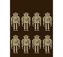 Vintage Robot Army by Chillee Wilson Photographic Print