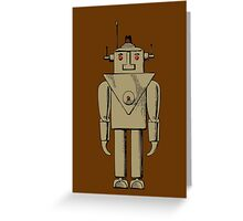 Vintage Robot by Chillee Wilson Greeting Card