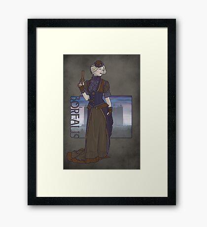 Borealis An Airship Pirates City Framed Print