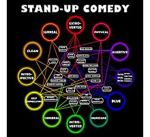 Comedy Chart Photographic Print