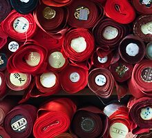 Red, red and more red (Japanese fabric) by Morag Anderson