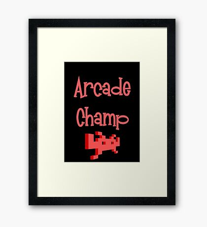 Arcade Champ by Chillee Wilson Framed Print