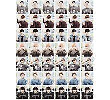BTS/Bangtan Sonyeondan - Checkered Photos Photographic Print