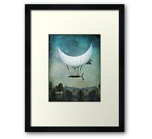 The Moon Ship Framed Print