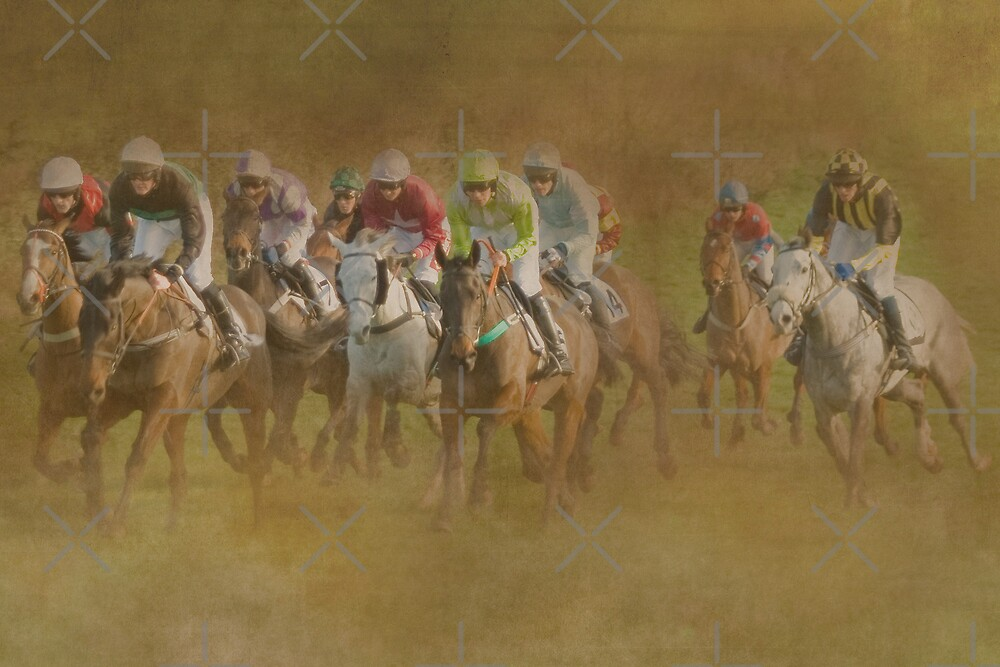 They're Off!!! by Catherine Hamilton-Veal  ©